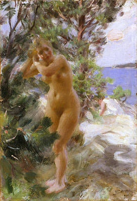 In The Bath Digital Art - After The Bath by Anders Zorn