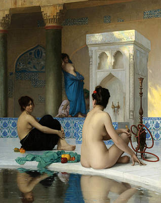 Jean-leon Gerome Painting - After The Bath by Jean-Leon Gerome