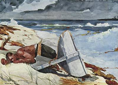 Winslow Homer Seascape Painting - After The Hurricane by Philip Ralley