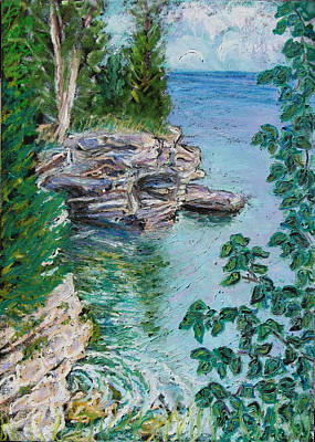 Painting - After The Rain Cave Point by Madonna Siles