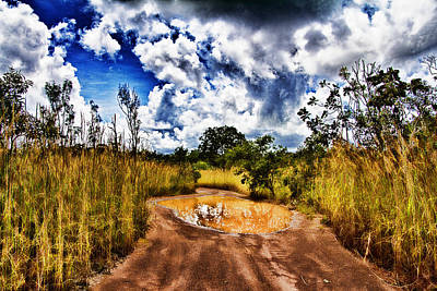 Gravel Road Photograph - After The Rain by Douglas Barnard