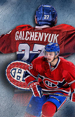 Canadiens Digital Art - Galchenyuk Phone Cover by Nicholas Legault