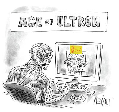 Social Media Drawing - Age Of Ultron by Christopher Weyant