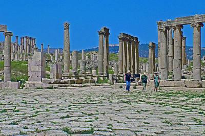 Agora In Greco-roman City Of Jerash In Jordan Original