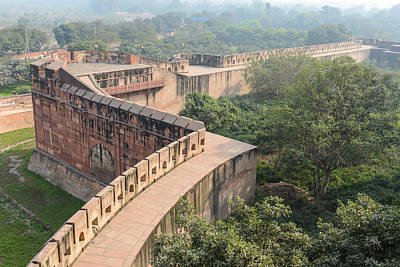 Photograph - Agra Fort Tourist Destination In India by Brandon Bourdages