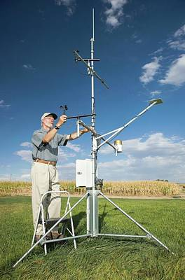 Agronomy Photograph - Agricultural Weather Station by Peggy Greb/us Department Of Agriculture