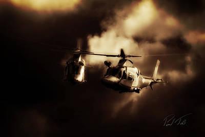 South African Air Force Photograph - Agusta Cloud by Paul Job