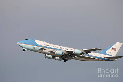 Travel - Air Force One  by Frank Salvaggio