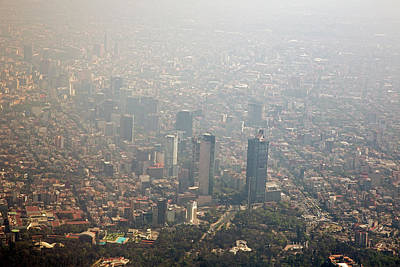 Mexico City Photograph - Air Pollution In Mexico City by Jim West