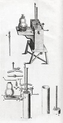 1704 Photograph - Air Pump Equipment, 18th Century Artwork by Middle Temple Library