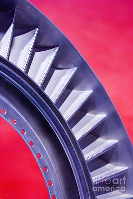 Aircraft Engine Component Photograph - Aircraft Engine Fan Component by Mark Williamson