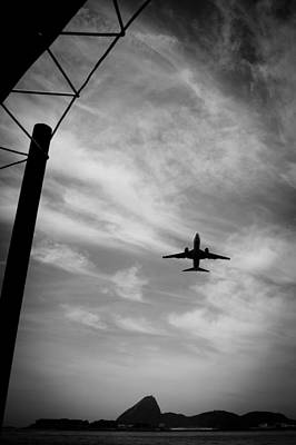 Photograph - Airplane In Flight Over The City Of Rio De Janeiro by Celso Diniz