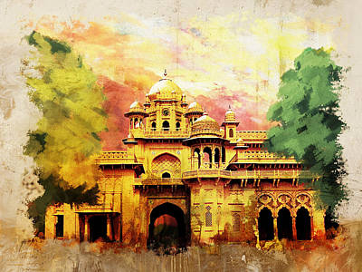 Mahal Painting - Aitchison College by Catf