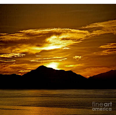 Photograph - Akaroa Sunset by Shirley Mangini