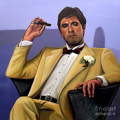 Woman Painting - Al Pacino by Paul Meijering