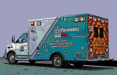 Alameda County Medical Support Vehicle Art Print by Samuel Sheats