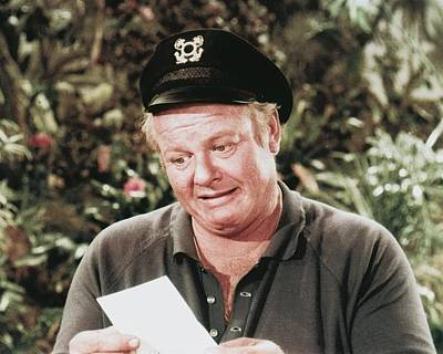 1960 Photograph - Alan Hale Jr. In Gilligan's Island  by Silver Screen