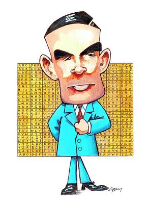 Alan Turing Art Print by Gary Brown