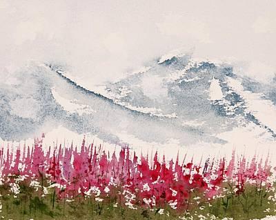 Alaska Fireweed  Art Print by Carolyn Doe