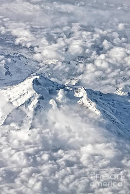 Photograph - Alaska Mountain Peak by Charline Xia