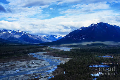 Land Of The Midnight Sun Photograph - Alaska Mountain Range by Thomas R Fletcher