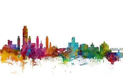 Albany New York Skyline Art Print by Michael Tompsett