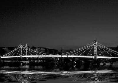 Photograph - Albert Bridge Thames  London by David French