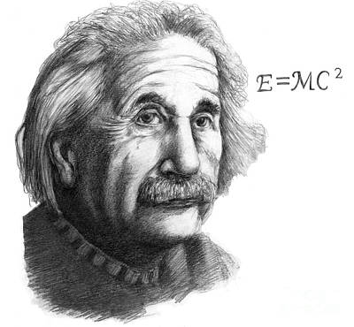 Mass Effect Photograph - Albert Einstein, German-american by Spencer Sutton
