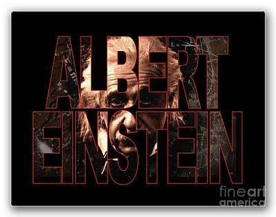 Albert Einstein Art Print by Marvin Blaine