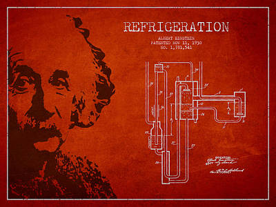 Albert Einstein Patent Drawing From 1930 Art Print by Aged Pixel