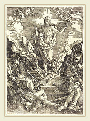Resurrection Drawing - Albrecht Dürer German, 1471-1528, The Resurrection by Litz Collection