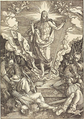 Resurrection Drawing - Albrecht Dürer German, 1471 - 1528, The Resurrection by Quint Lox