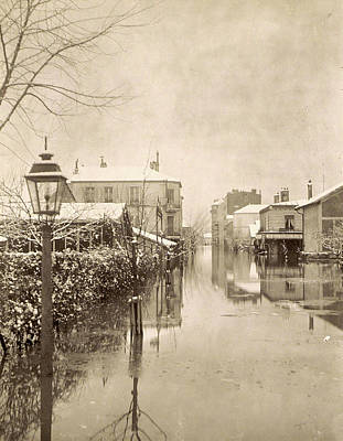 Flooding Drawing - Album Flooding Paris Suburbs In 1910, France by Artokoloro