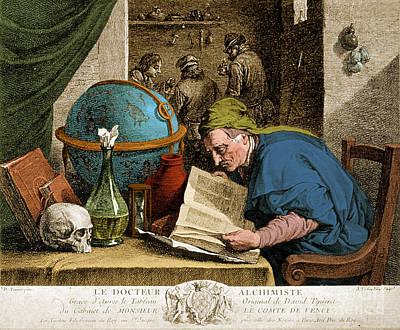 Photograph - Alchemist 17th Century by Science Source
