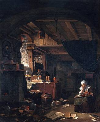 1600s Wall Art - Photograph - Alchemist's Workshop by Will Brown/chemical Heritage Foundation/science Photo Library