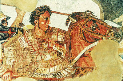 Faun Painting - Alexander The Great (356-323 B by Granger