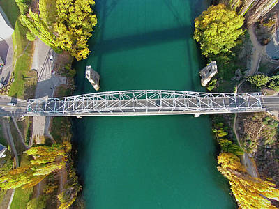 Alexandra Photograph - Alexandra Bridge And Clutha River by David Wall