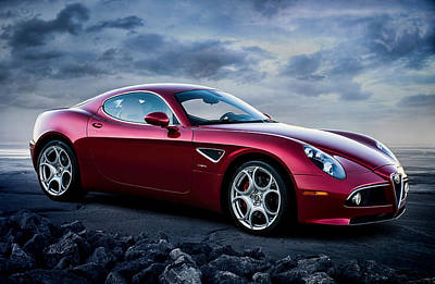 Luxury Digital Art - Alfa Romeo 8c by Douglas Pittman