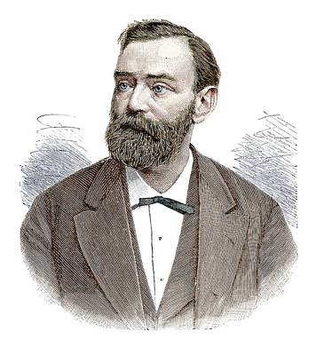 Philanthropist Photograph - Alfred Nobel by Science Photo Library