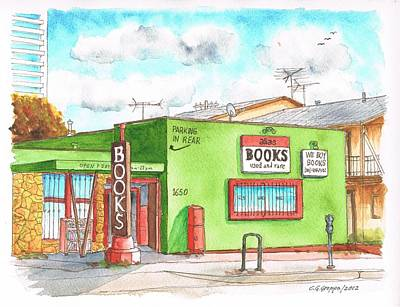 Santa Monica Painting - Alias Books In Westwood, California by Carlos G Groppa