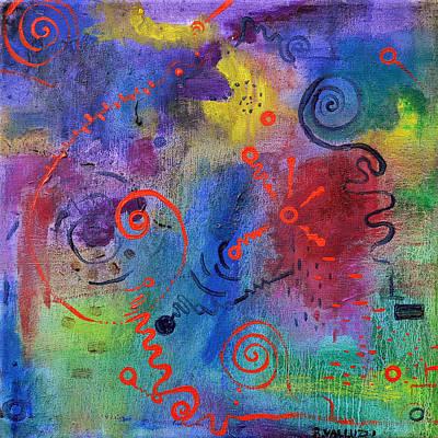 Painting - Alien Reply by Regina Valluzzi