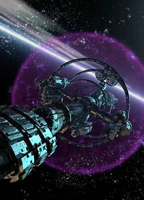 Digital Art - Alien Spaceship, Artwork by Victor Habbick Visions