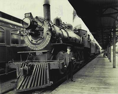 Union Pacific Photograph - All Aboard  by Retro Images Archive