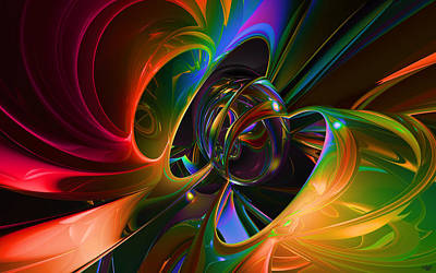 Abtracts Digital Art - All That Jazz by Renee Fereira