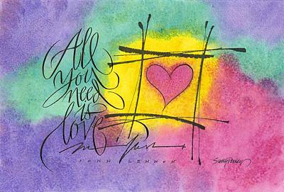Painting - All You Need Is Love by Sally Penley