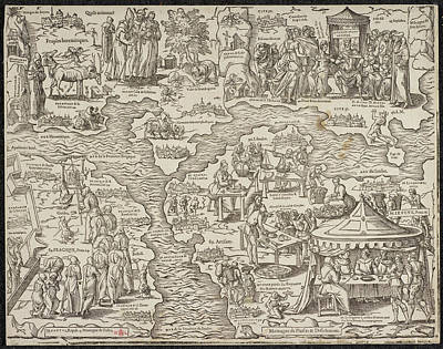 Religious Art Photograph - Allegorical Map by British Library