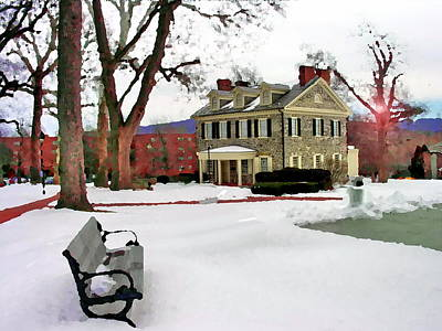 Photograph - Allentown Pa Bench At Trout Hall by Jacqueline M Lewis