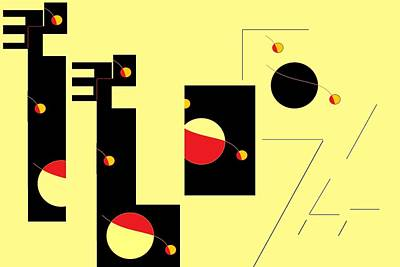 Art Print featuring the digital art Alluring In Yellow by Cletis Stump