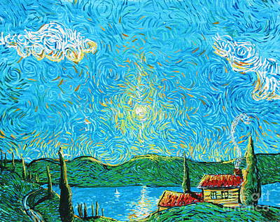 Sun Rays Painting - Almost Heaven by Stefan Duncan