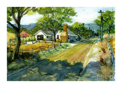Along Stoney Creek Road Art Print